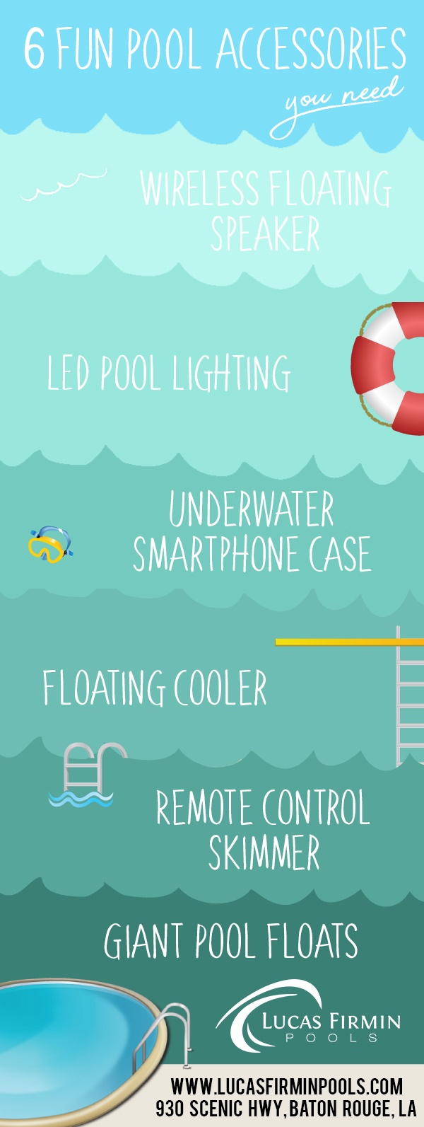 In-Ground Pool Builder in Baton Rouge: 6 Pool Accessories You Need