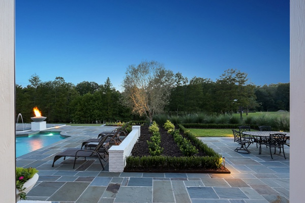 pool landscaping and decking
