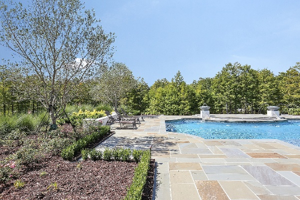 pool decking and landscape