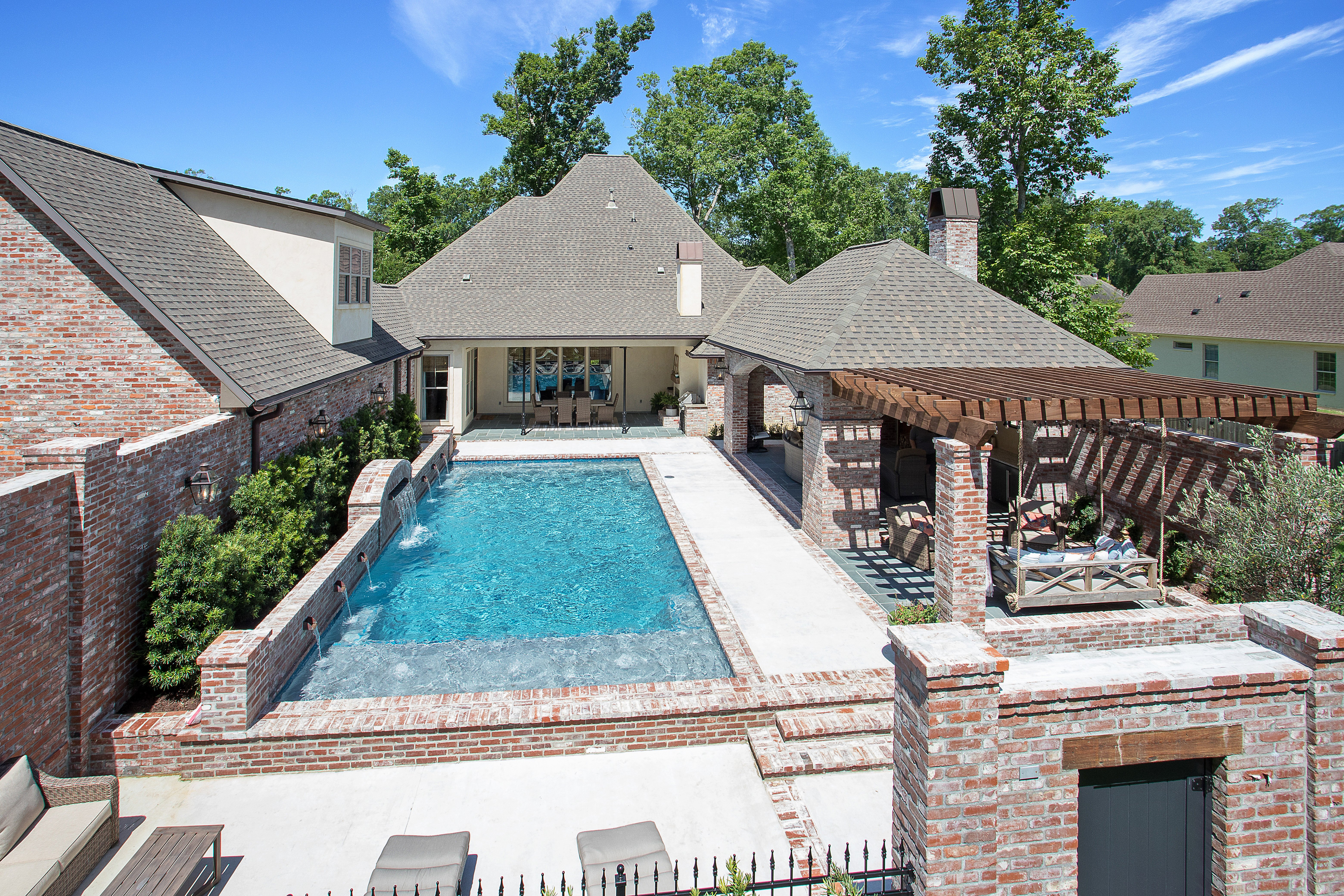 Brand new backyard pool Baton Rouge
