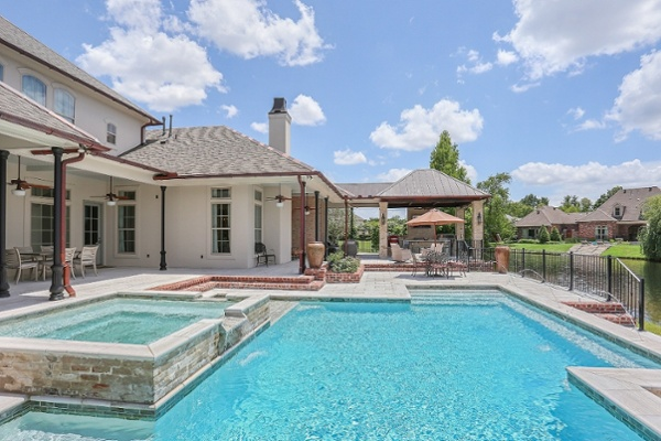 Lucas Firmin Pools and Outdoor Kitchen at Bocage Lakes