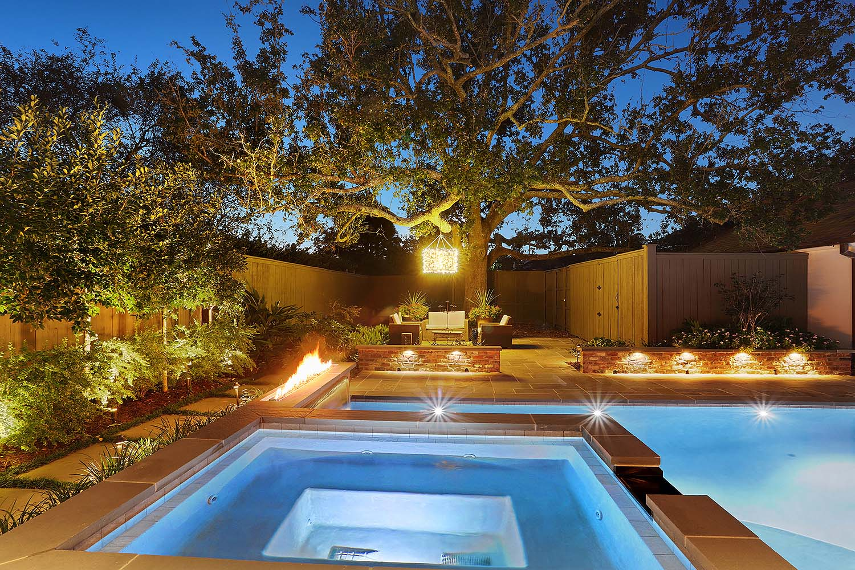 Baton Rouge pool and hot tub lighting