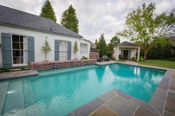 pool with pennsylvania blue stone